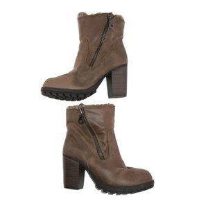 Ankle Boots Sweater Layer High Block Heel 8.5